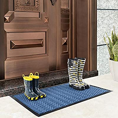 Mibao Entrance Door Mat, 18 x 30 inch Large Low-Profile Non-Slip Welcome Front Outdoor Rug, Doormat for Entry, Patio