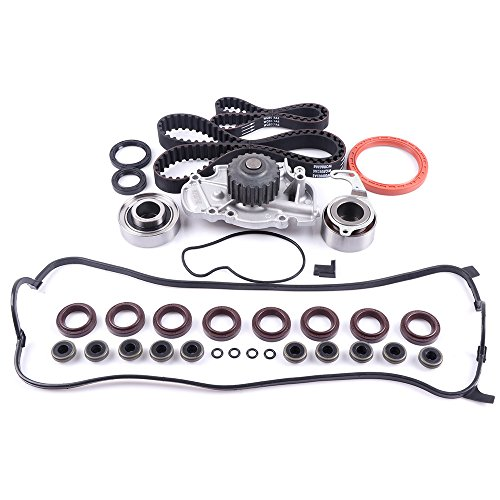 Timing Belt With Water Pump Kit,ECCPP Automotive Replacement Valve Cover Gasket for ISUZU HONDA ACURA CL 2.2 2.3L SOHC ()