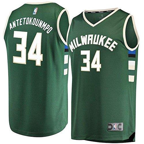 Fanatics Branded Fanatics Branded Milwaukee Bucks Green Fast Break Replica Player Jersey - Icon Edition スポーツ用品 【並行輸入品】 B07FSRF45V XXX-Large