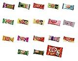 Assortment of 18 Japanese Miniature Kit Kat Including Green Tea, Strawberry Cheesecake, Wasabi, Rum Raisin