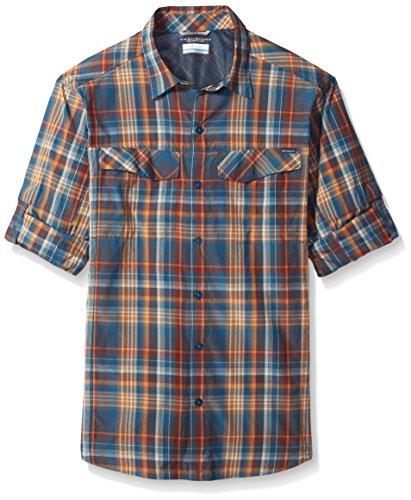Columbia Mens Silver Ridge Plaid Long Sleeve Shirt, XX-Large, Blue Heron Plaid