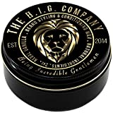 Beard Balm & Moustache Wax for Styling & Conditioning - XL Tin - Relieve Itchiness - Softer Beard Hair - Natural Oils for Beard Hair Health + the FREE Beard Hacks Bible eBook - Regal Vanilla Scent