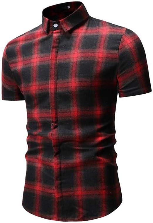 NSSY Camisa de Hombre Camisa de Verano de Manga Corta para Hombre con Camisa de Vestir de Manga Corta para Hombre, Modelo XXXL: Amazon.es: Hogar