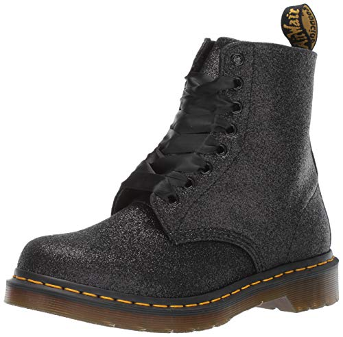 Dr. Martens Women's 1460 Pascal Glitter Fashion Boot, Black, 5 Medium UK (7 US)