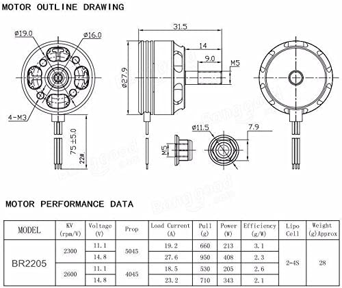 4pcs HGLRC 30A 2-5S ESC BB2 DShot600 SpeedyFPV 4pcs RacerStar 2205 2300kV 2-4S Brushless Motor