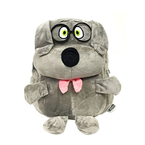 Bowbear Cuddly Buddies Plush Stuffed Animals Cartoon Backpack, Greyhound (Greyhound Stuffed Animal)