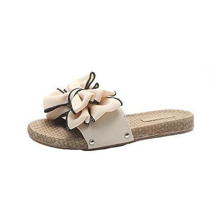 d01ce947d276 Clearance Hot Sale! ❤ Summer Bow Womens Sandals Flat Slim Flip Flop Casual  Summer