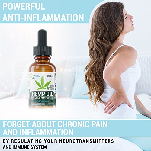 [Newest 2018] Formula Hemp Oil for Pain Relief Full Spectrum 250mg - Reduces Pain/Stress Support/Anti Anxiety/Sleep Supplements - Hemp Extract Oil Drops with MCT Fatty Acids by VitaFormulas (Image #2)