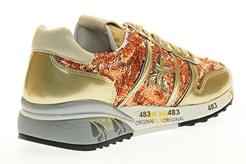 PREMIATA las mujeres bajas zapatillas de deporte 2100 DIANE talla 39 Oro