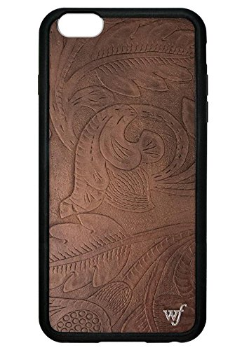 Wildflower iPhone 6 Plus/6s Plus Case - Brown Stamped Leather (Stamped Leather Brown)