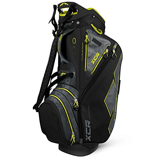 Sun Mountain Xcr Cart Golf Bag, Black/Gunmetal/Citron