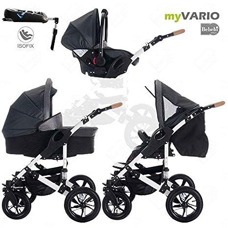 Bebebi | modelo myVARIO | 4 en 1 Cochecito de niño cochecitos de bebé + ISOFIX | Ruedas de aire - myStar: Amazon.es: Bebé