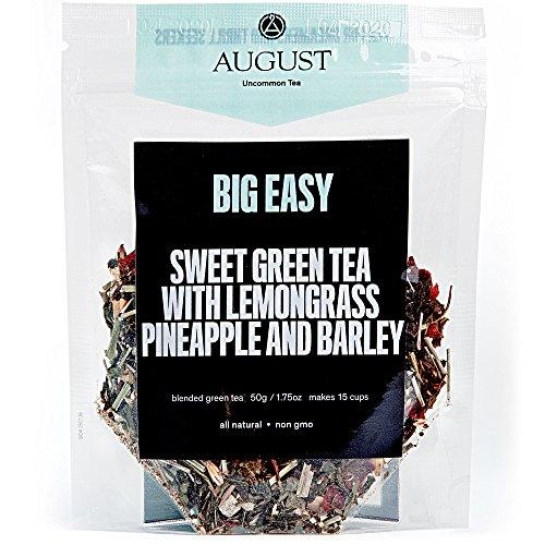 August Uncommon Loose Leaf Tea - Big Easy Sweet Green Tea with Lemongrass, Pineapple and Barley