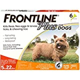 Frontline Plus for Dogs Small Dog (5-22 pounds) Flea and Tick Treatment, 6 Doses Larger Image