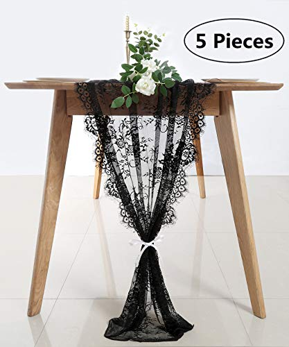Lace Table Runners for Weddings Bulk Lace Linen Tablecloth 5 Pack Lace Table Runner 30x120 inch Wedding Lace Runner Birthday DIY Art Craft Decor
