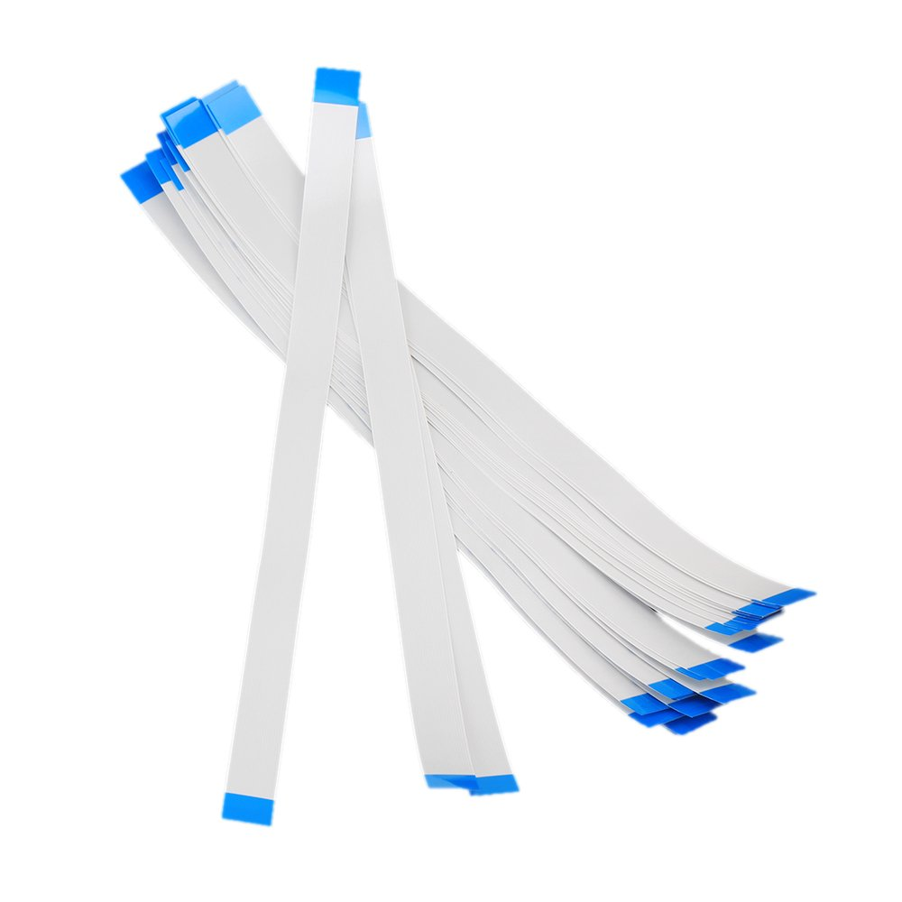 RDEXP 0.5mm Pitch 20-Pin 200mm Length FPC Ribbon Wire Flexible Flat Cable Set of 25