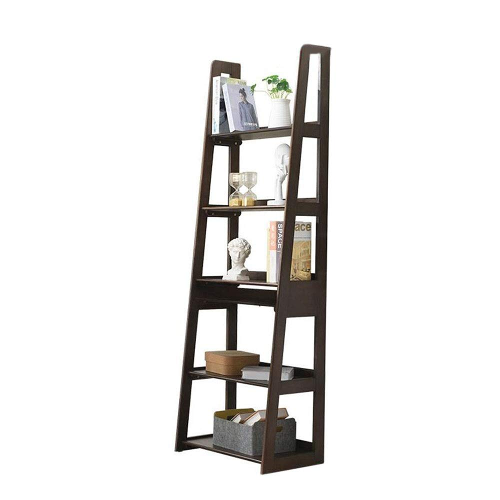 Jcnfa-Shelves Modern Ladder Bookcase Made of Wood Book Shelf Stand Shelf Wall Shelf Multipurpose Storage Rack Shelving ,2 Colors (Color : Honey Color, Size : 23.6214.9672.83in) by Jcnfa-Shelves