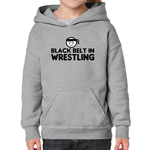 Teeburon Black Belt In Wrestling Girl Hoodie by Teeburon
