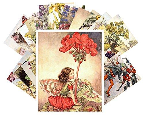Vintage Postcard Flowers - Postcard Set 24 cards Flower Fairy by Cecile Barker Vintage Illustrations