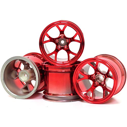 - hobbysoul 4pcs RC 2.2'' Truck Wheels Hex 12mm Red Color Fit 2.2 Truck Tires & 2.2 Rock Crawler Tires