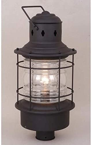 Vaxcel OP37005TB Nautical 10 Outdoor Post Light, Textured Black Finish with Clear Glass