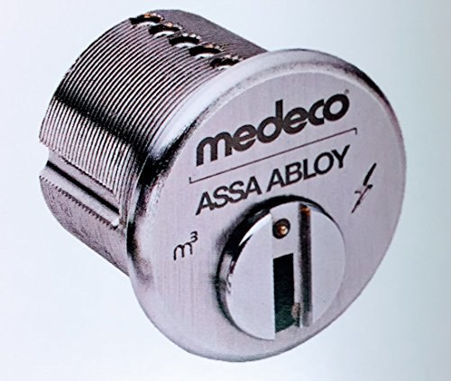 (Medeco 100100 BiLevel 1″ Mortise Cylinder (Satin Chrome))