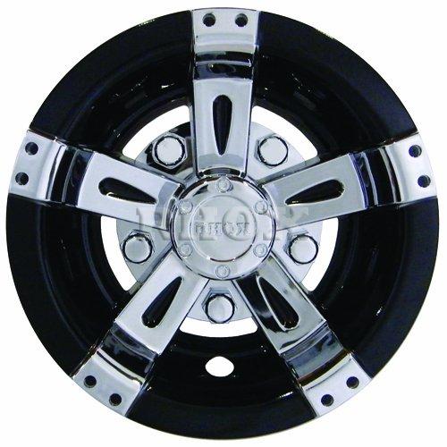 8 Vegas Chrome//Black Wheel Cover