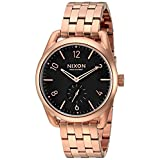Nixon Men's A9501932 C39 SS Analog Display Swiss Quartz Rose Gold Watch