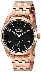 Nixon Men's A9501932 C39 SS Analog Display Swiss Quartz Rose Gold Watch