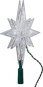 Kurt Adler 10-Light 10-1/2-Inch Clear LED 8-Point Star Treetop