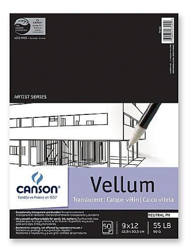 (Sandylion Vidalon Tracing Vellum 14 in. x 17 in. pad of 50 sheets)