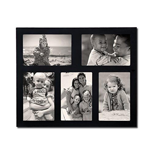 Adeco PF0544 Black Wood Wall Hanging Collage Picture Photo F