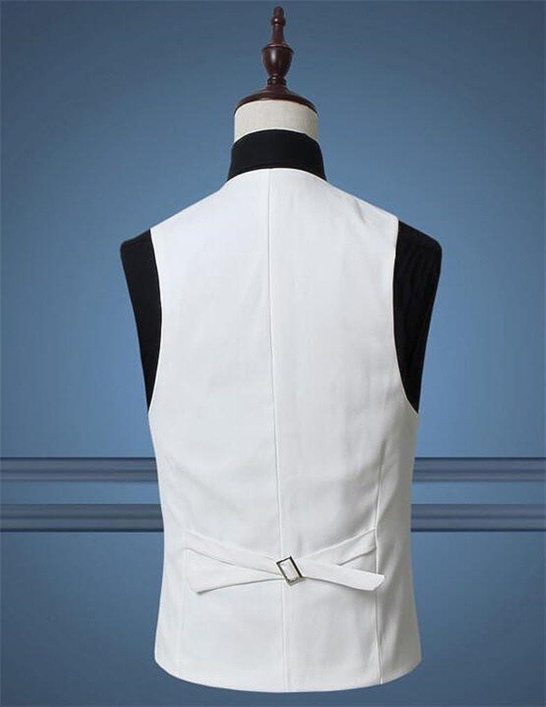 Next Class Mens Slim Fit Multicolor V-Neck Suit Vests