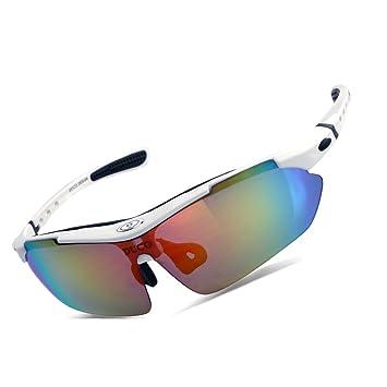 DUCO Radsportbrille Outdoor Sonnenbrille für Sportler polarisierte + 5 Linsen ryJSNG4Jv2
