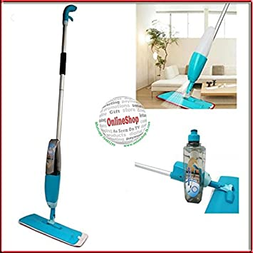 Siddhi Collection Microfiber and Aluminium Floor Cleaning Healthy Spray Mop with Removable Washable Cleaning-Pad and Integrated Water-Spray Stick Vacuums & Electric Brooms at amazon