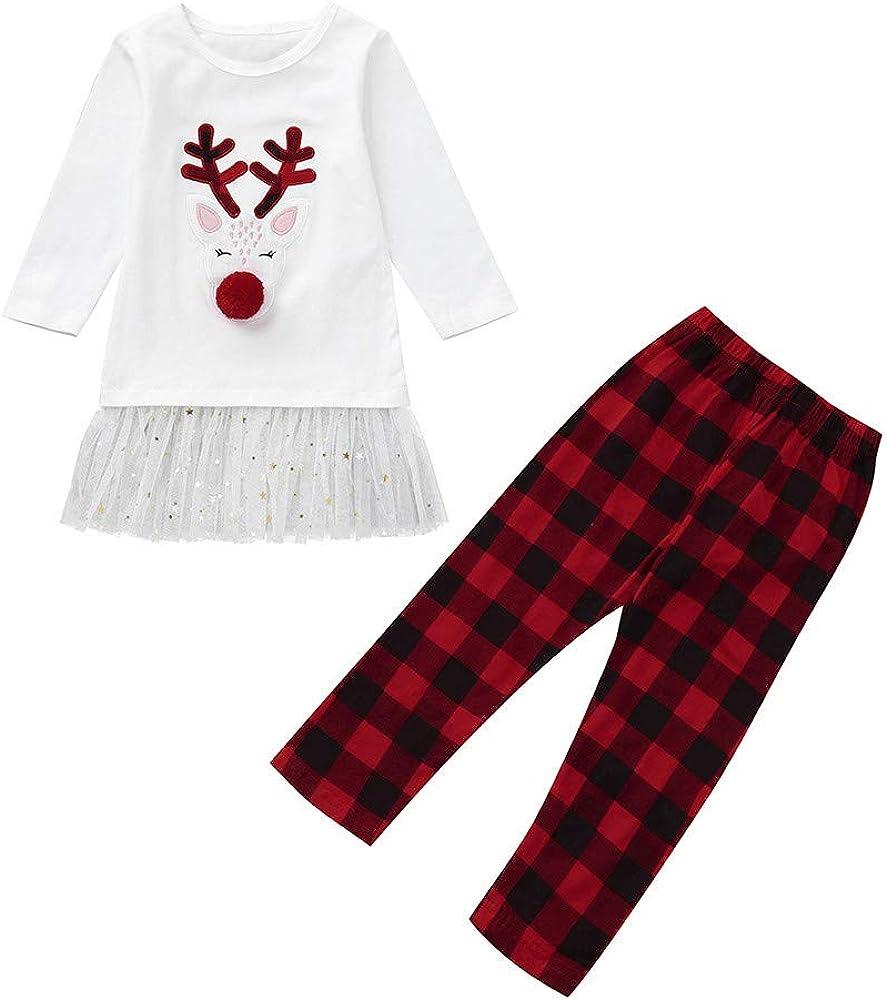 Fossen Disfraz Navidad Niña Bebe 1-5 años Reno Tutu Tops Y ...