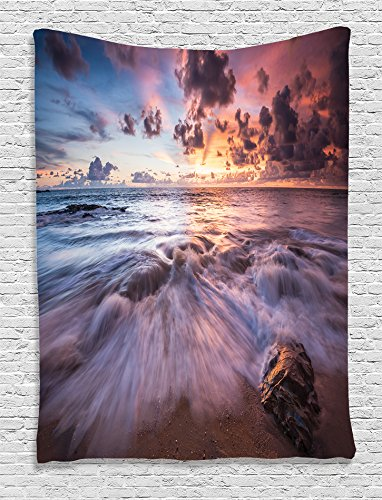 Ambesonne Collection Dramatic Colorful Seascape