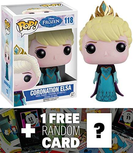 Coronation Elsa: Funko POP! x Disney Frozen Vinyl Figure + 1 FREE Classic Disney Trading Card Bundle [48327]