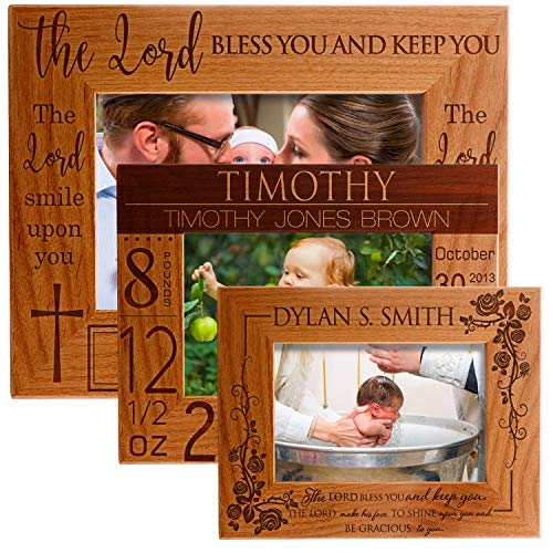 (Lara Laser Works Personalized Wooden Photo Frame Customized Newborn Baby Gift Picture Frame with Stand)