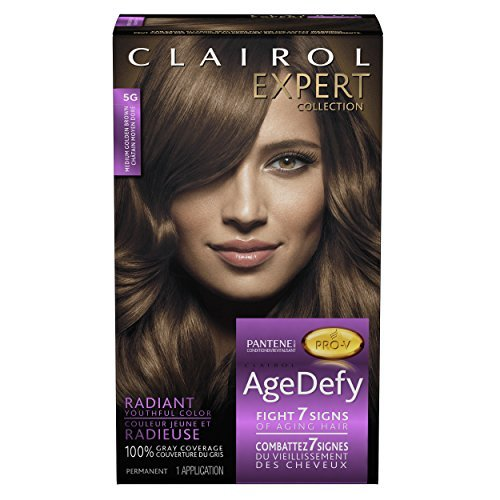 Clairol Age Defy Expert Collection Hair Color - #5G Medium Golden Brown (Pack of 3)