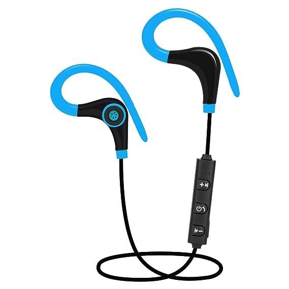 Tefamore Auriculares Bluetooth V4.1 inalámbricos estéreo auricular para IPhone (Azul)