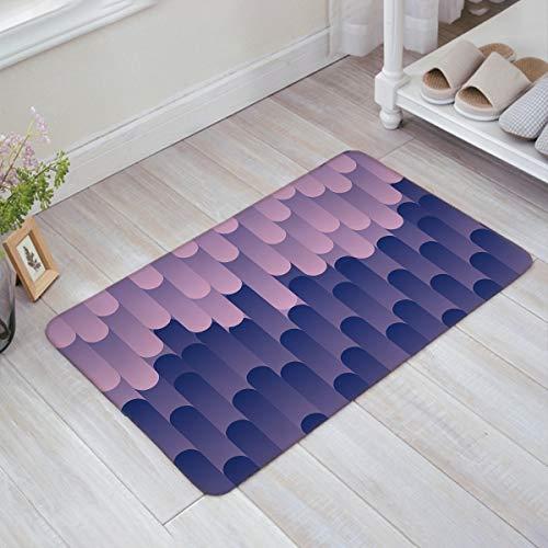 HUS-PLT Gradient Purple Cylinder Design Doormat Welcome Mat Entrance Mat Indoor/Outdoor Door Mats Floor Mat Bath ()