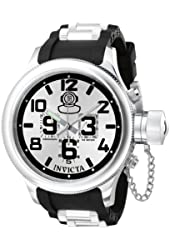 Invicta Men's 0246 Russian Diver Collection Chronograph Black Rubber Watch