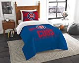 "Northwest Chicago Cubs Twin Comforter Set, Blue, 64"" x 86"""