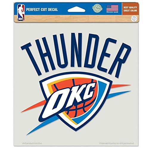 Oklahoma City Thunder Primary Team Logo Die Cut Decal 8