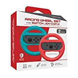 Hyperkin Racing Wheel Set for Nintendo Switch Joy-Con (Blue/ Red) (2-Pack)