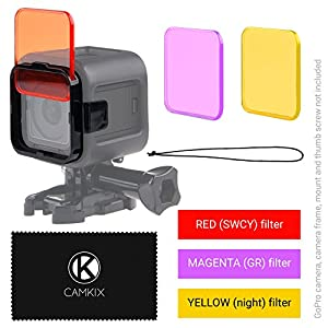 Diving Lens Filter Kit for GoPro HERO Camera - Enhances Colors for Various Underwater Video and Photography Conditions - Vivid Colors, Improved Contrast, Night Vision
