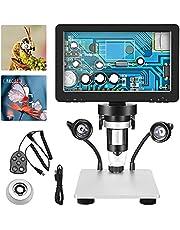 SEAAN Digitale Microscoop 1200X - 7'' HD draaibaar scherm - 12MP pixel - 1080FHD - 8 LED vullicht - Micro/USB 2.0 - draadregelaar, professionele LCD-microscoop voor wetenschapsonderzoek