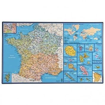 Carte De La France Sous Mainavec Régions Départements