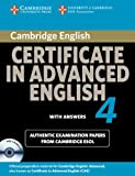 Cambridge Certificate in Advanced English, Cambridge ESOL Staff, 0521156920